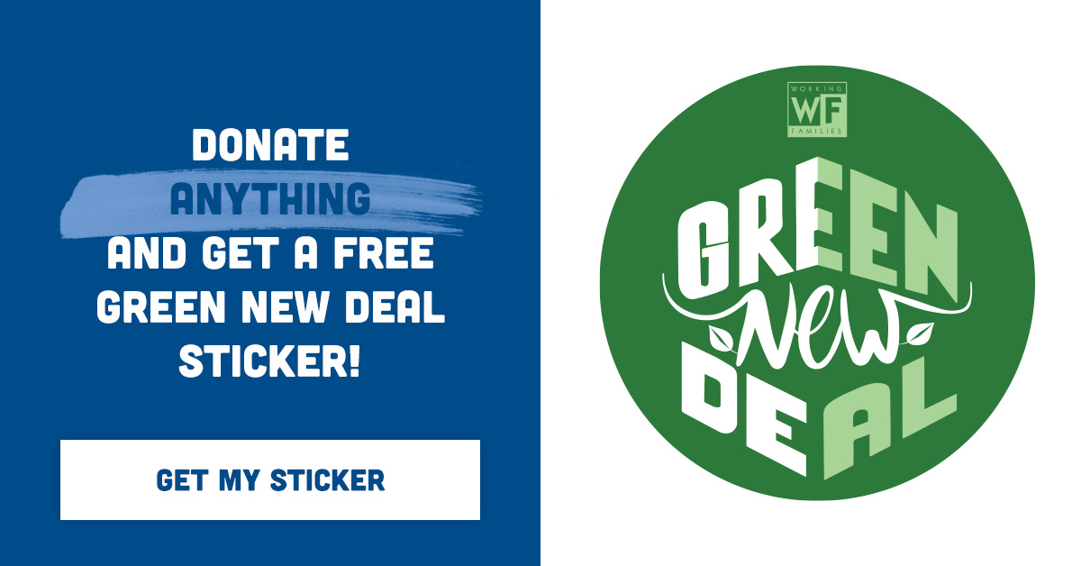 WFP Green New Deal sticker
