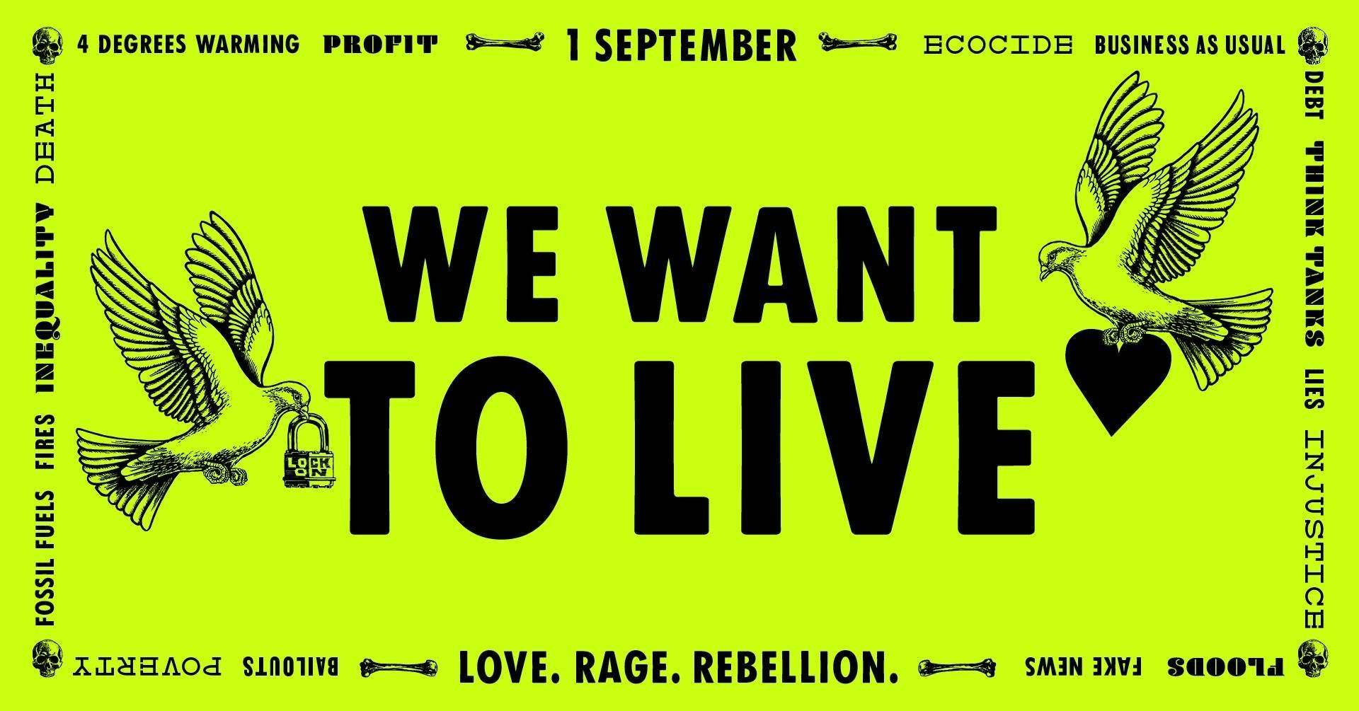 We want to live